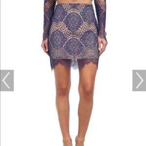 For love & lemons sapphire grace skirt